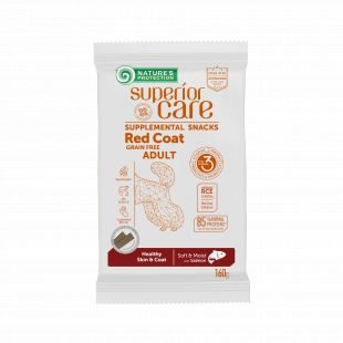 NATURE'S PROTECTION SUPERIOR CARE Red Coat Healthy Skin & Coat Grain free Salmon snacks with salmon for adult dogs with red coat 160 g x 6