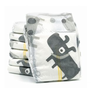 MISOKO&CO disposable diapers for male dogs with puppies, charcoal, moisture indicator, lavender scent, size L, 12 pcs.