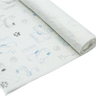 MISOKO&CO dogs disposable pad with puppys and paws, lemon scent, 60 x 90 cm, 10 pcs.