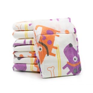 MISOKO&CO disposable diapers for male dogs with puppies and bones, moisture indicator, lemon scent, size L, 12 pcs.