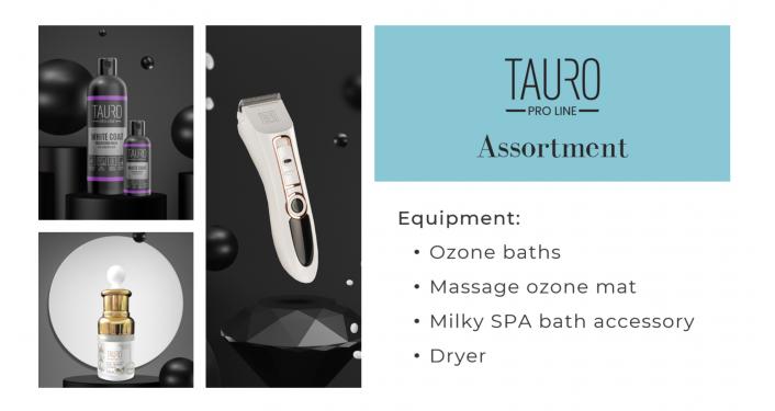 Tauro Pro Line Ozone baths and dryers